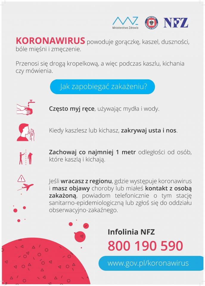 Informacja Głównego Inspektora Sanitarnego dla seniorów - koronawirus SARS-CoV-2